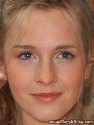 The faces of JK Rowling and Emma Watson combined together -