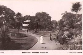 Postcard of Morrab Gardens, Penzance c. 1905