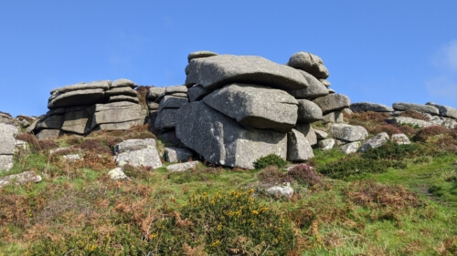 The rocky outcrops of Zennor Carn