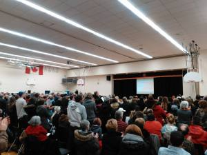 A standing ovation at the end of Morning Mullin's presentation to the Seaway ARC 2a meeting January 31st. (The Leader/Blancher photo)