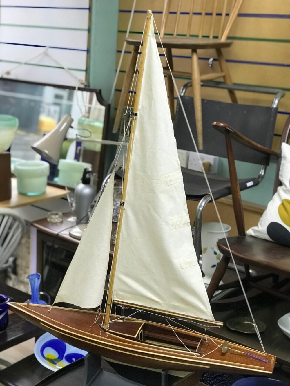 Dragon Class racing yacht model
