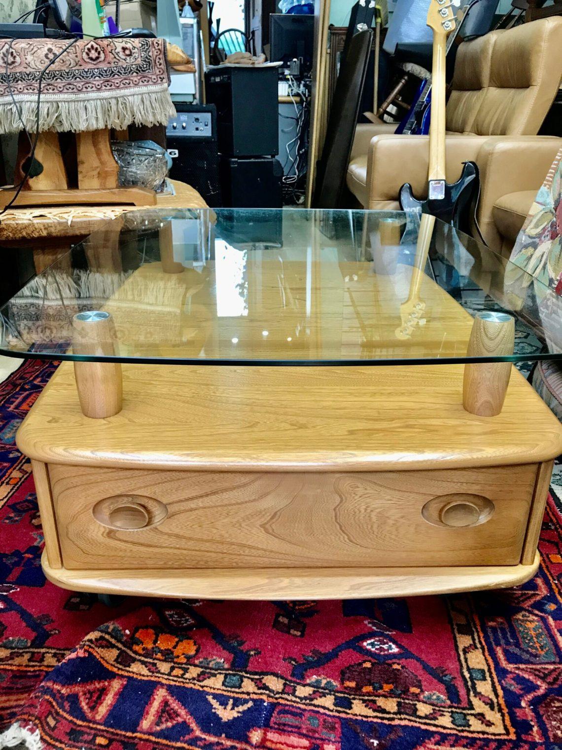 Ercol Glass top Pandora Coffee Table