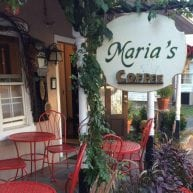 Maria's Coffee outdoor signage