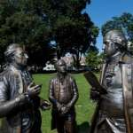 Morristown Green statue of three men