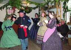 Christmas Civil War actors dancing