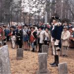 Civil war reenactment at Presbyterian Cemetery in Morristown