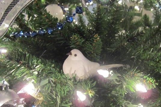 Dove in Christmas tree