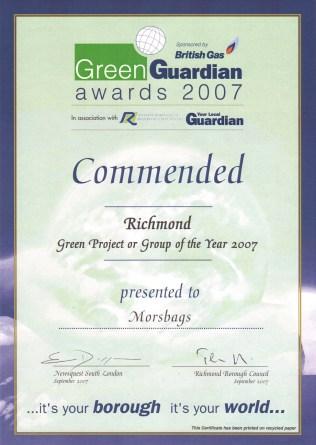 Green Guardian Award 2007