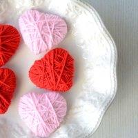 San Valentino fai da te: cuori di lana shabby chic