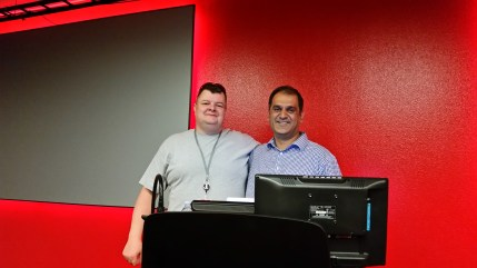 Jon Hathaway and Alex Singh, presenters of Agile and AWS