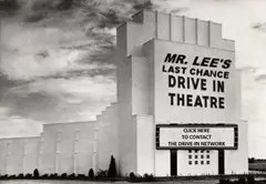 Old Drive-in movie theatre