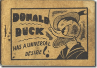 Donald Duck has a unusual desire