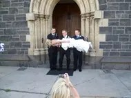 Wedding bride planks
