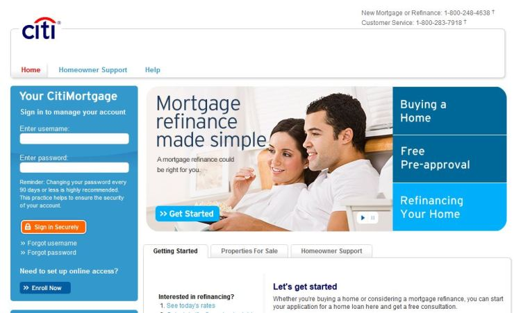 CitiMortgage Bill Payment