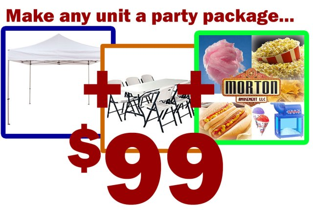 party package upgrade 99.00