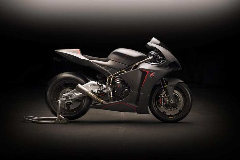 The R models – this is the GP Sport R – have hand-made swingarms.