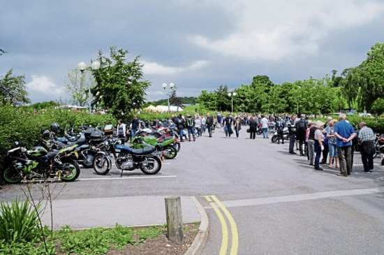 Visitors stream from the bike park to the show area during the most successful Big Bike Sunday yet.