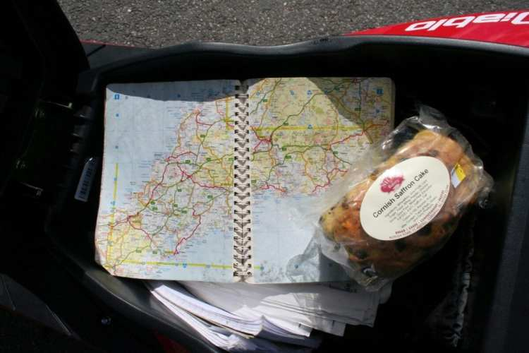 Our man doesn't use a satnav... but does like Cornish Saffron Cake
