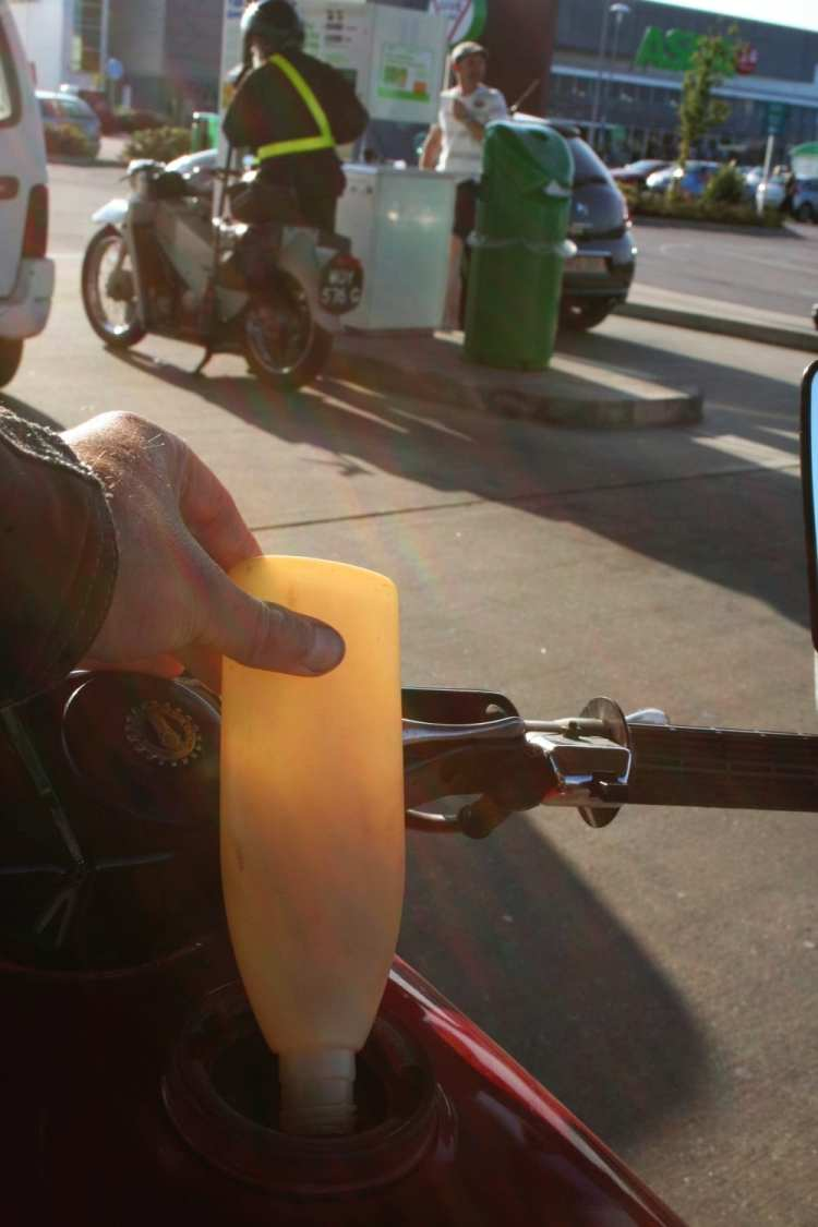 Riding an old two-stroke means adding the right amount of oil at every fill-up