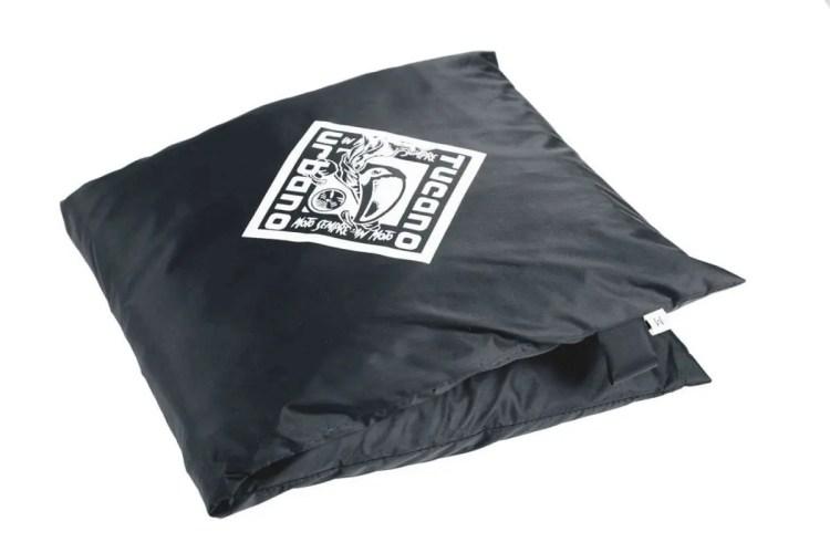 Folded-up-rainsuit