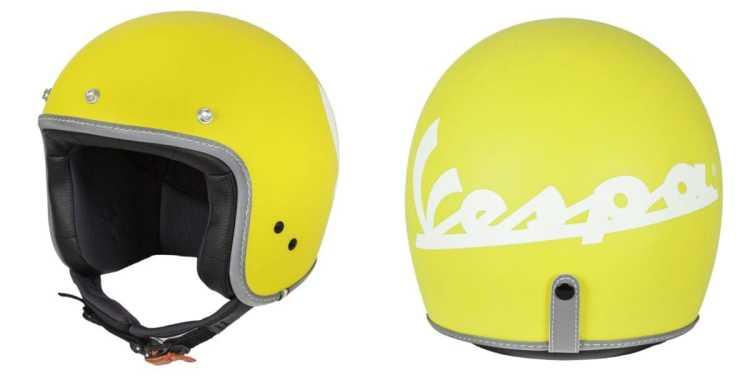 yellow vespa helmet