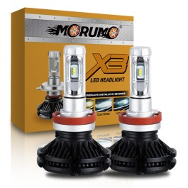 H11 LED HEADLIGHT CONVERSIONS X3 ZES LED 6000 LUMENS 6000K MORUMO