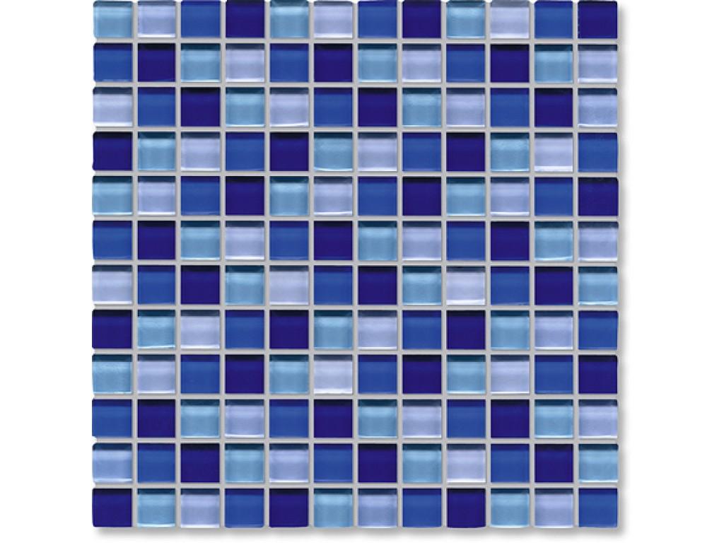 crystal glass blue mix gloss mosaic