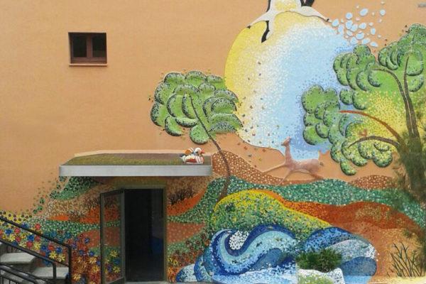 40th anniversary mural, 7'50m x 18m, La Miranda School, Barcelona, 2007.