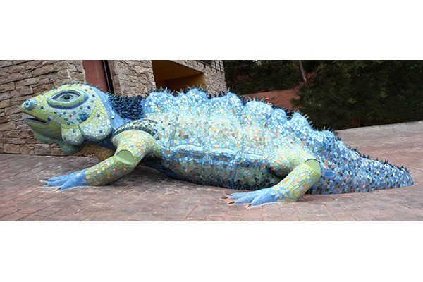Dragon, 8m x 70cm, 410kg., private house, Barcelona.