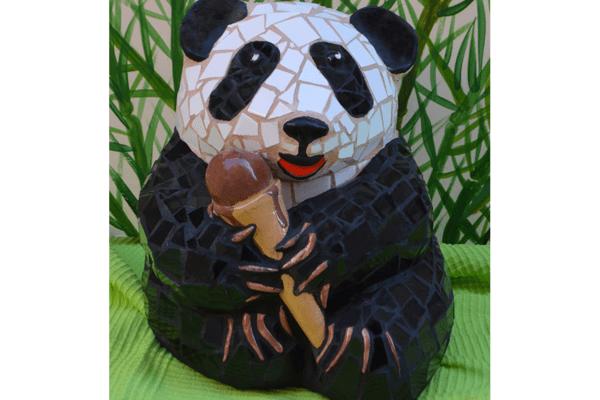 Ice-cream Baby Panda, 25cm x 18cm,  8kg.