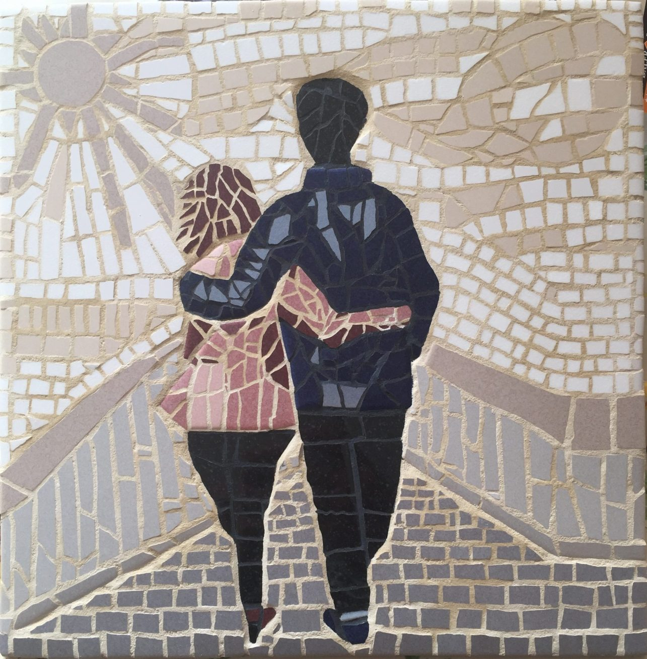 'We will walk together' Mosaic by Wild Geckos Mosaics & Designs