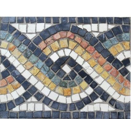 Wild Geckos Mosaics - Roman Guilloche Mosaic