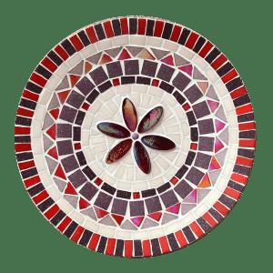 mozaïekpakket schaal lilyrose, mosaickit dish lilyrose