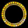 Ring 27cm geel suncatcher