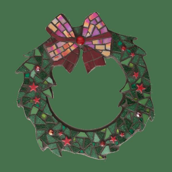 mozaiekpakket kerstkrans groen-rood