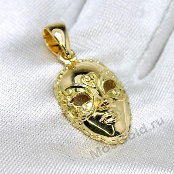 Подвеска маска из золота - купить, фото, цена - Ювелирная ...