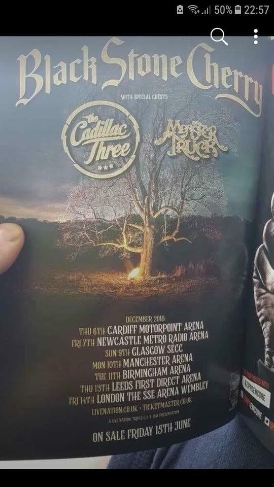 Black Stone Cherry December dates announced – The Moshville