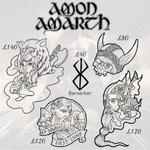 Amon Amarth tattoos 3