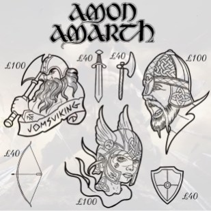 Amon Amarth tattoos 4