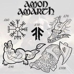 Amon Amarth tattoos 6