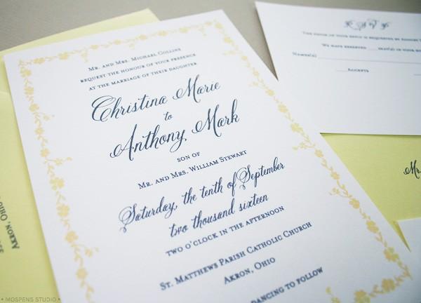Light Yellow Gray Gatsby Inspired Wedding Invitations Mospens Studio