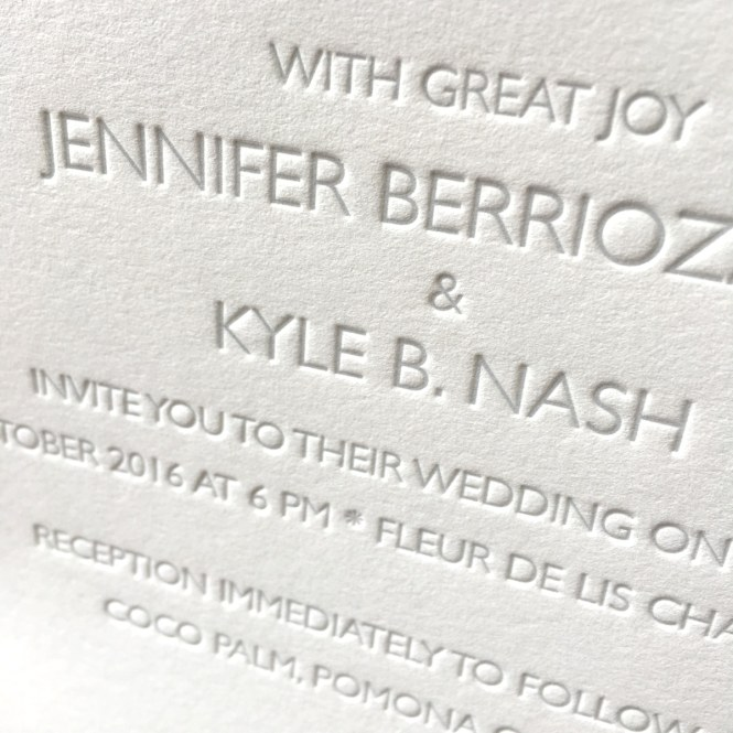 Barely There Letterpress Wedding