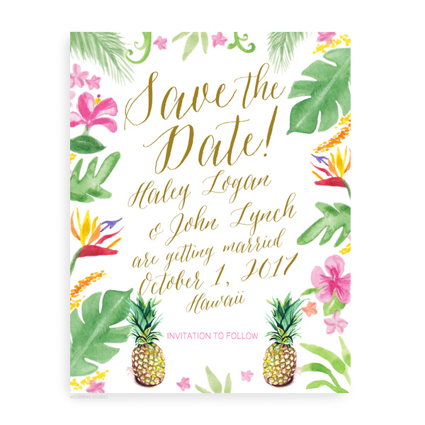 Save The Dates For A Wedding In Hawaii Mospensstudio
