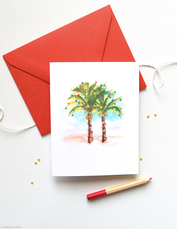 Beach Christmas Cards Theme Mospens Studio
