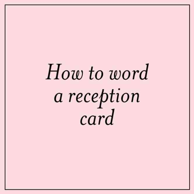 Festive Reception Card Wording Ideas Custom Invitations