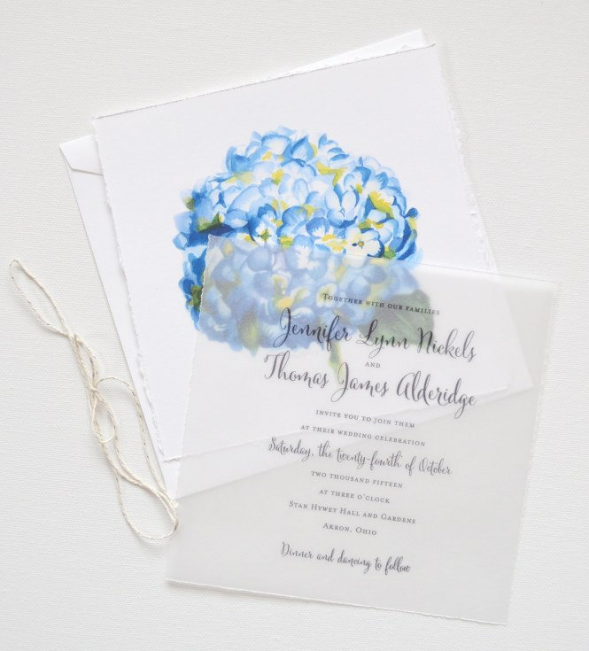 Watercolor Hydrangea Fl Wedding Invitations