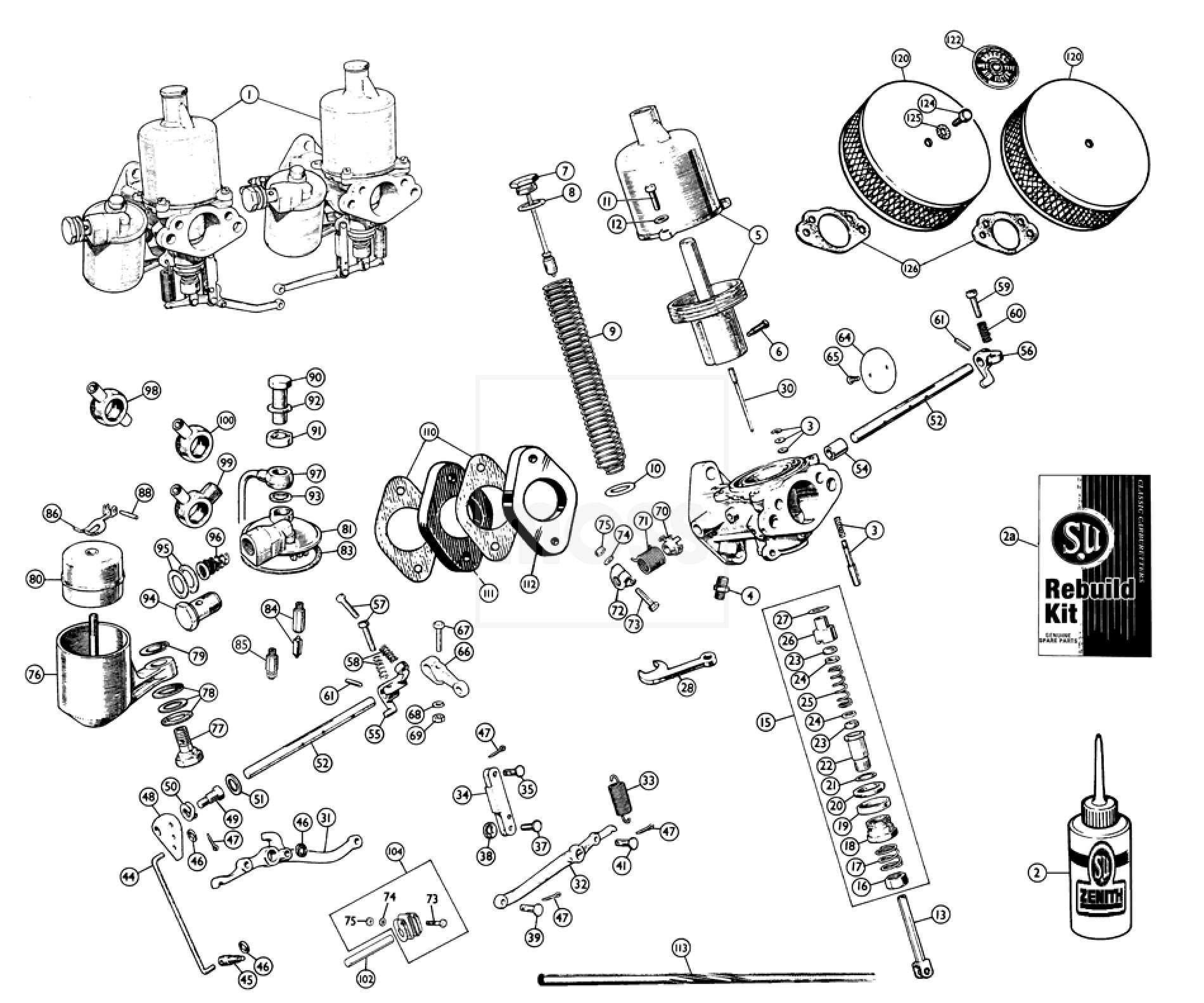 H Type Carburettors Amp Air Filters