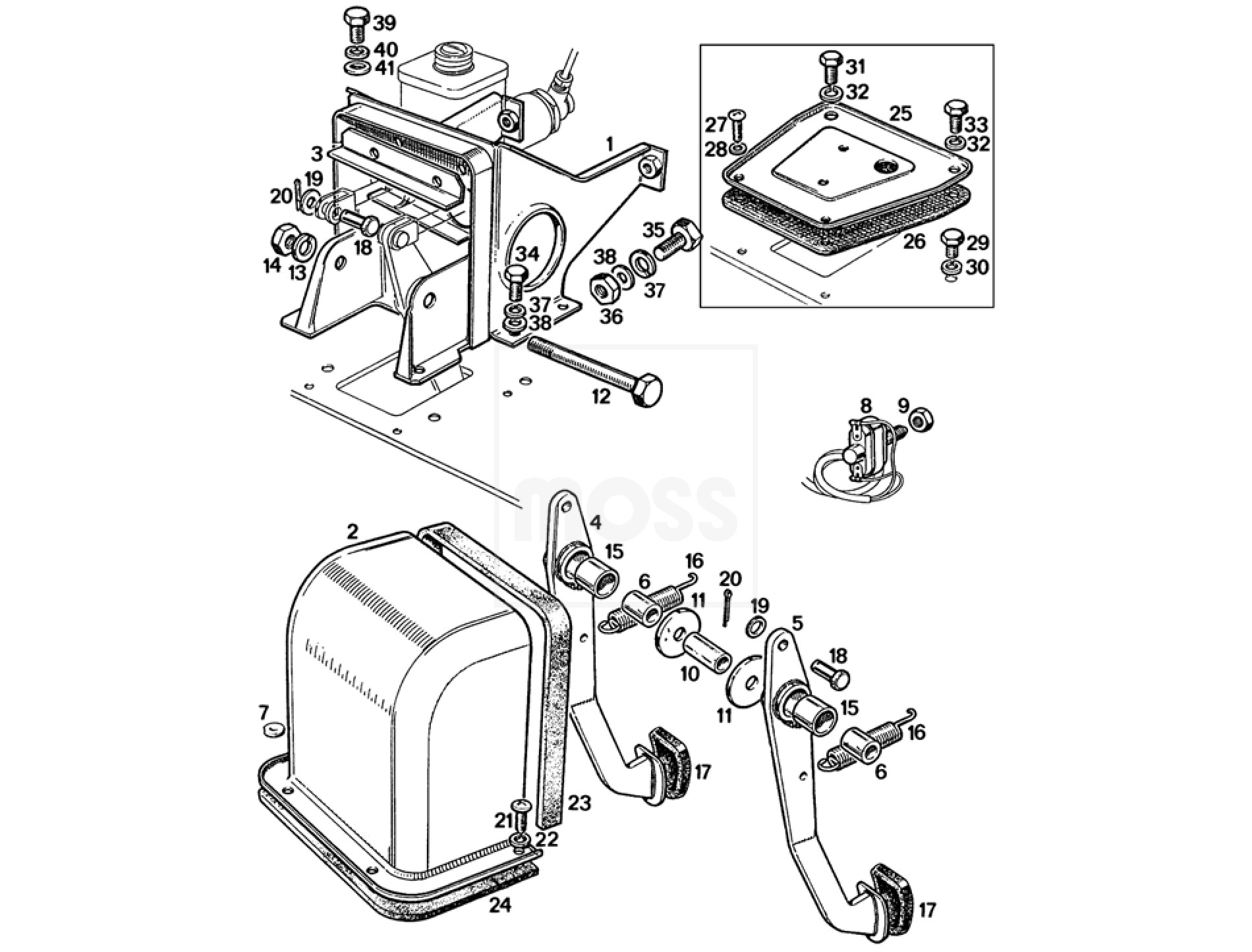 Pedal Box Assembly Single Line System
