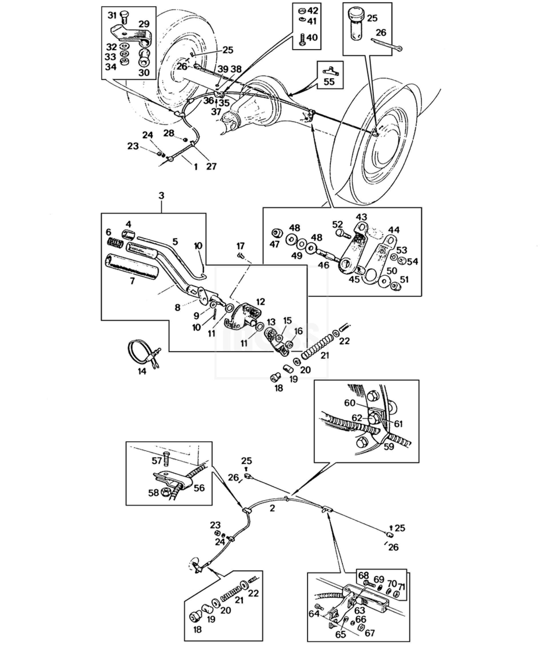Handbrake Mechanism Amp Cables