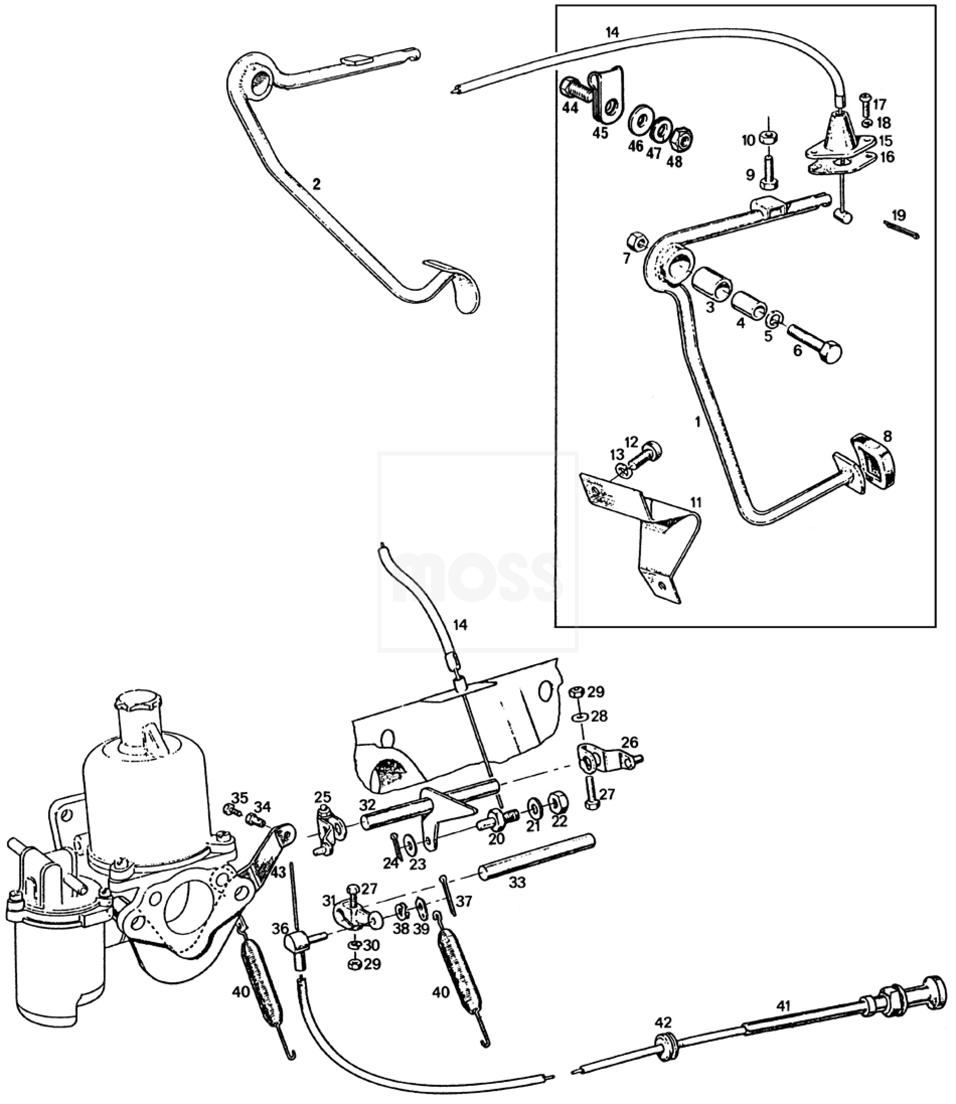 Engine Controls Su Hs4 Carburettors